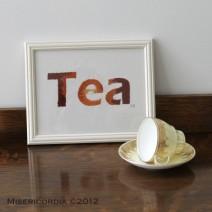 Tea hand embroidery - Misericordia 2012