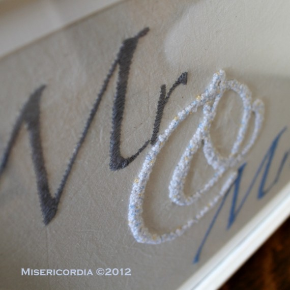 Mr & Mrs hand embroidery - Misericordia 2012
