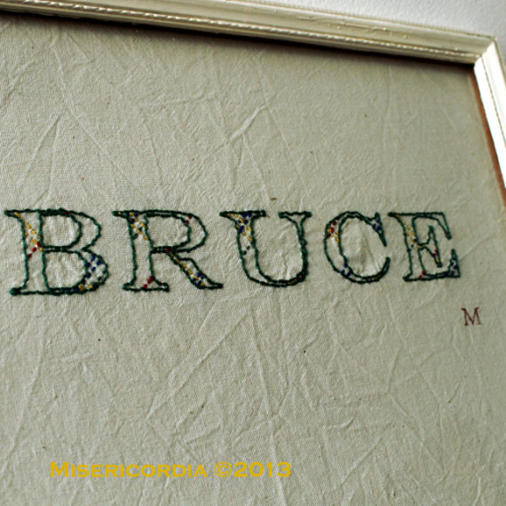 Bruce hand embroidery - Misericordia 2013
