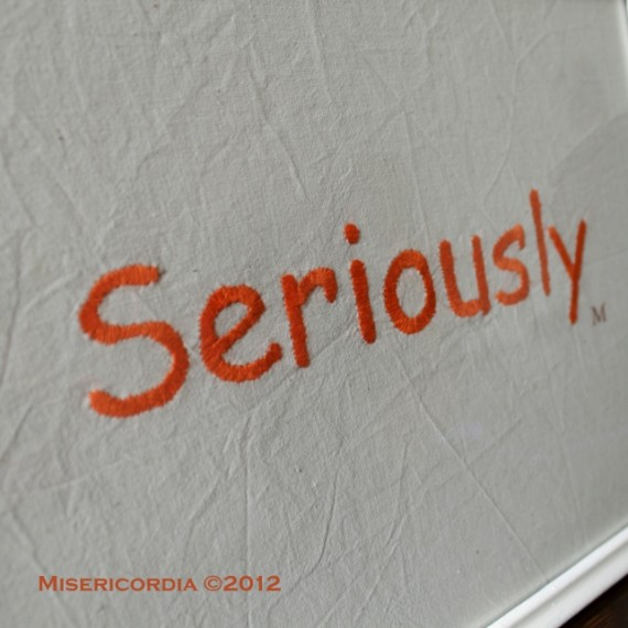 Seriously hand embroidery - Misericordia 2012