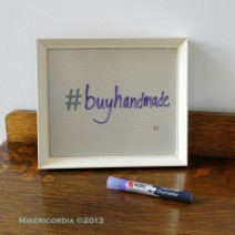 Hashtag Unknown hand embrodiered notice board - Misericordia 2013