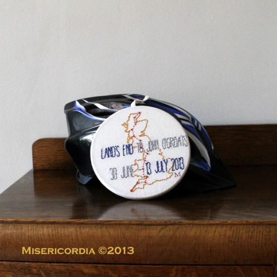 Land's End to John O'Groats commemorative hoop - Misericordia 2013