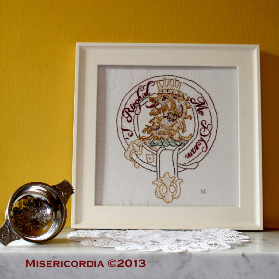 McGregor Clan Crest hand embroidery - Misericordia 2013