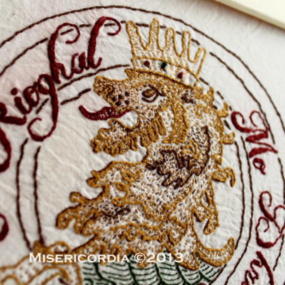 McGregor Clan Crest stitch detail - Misericordia 2013