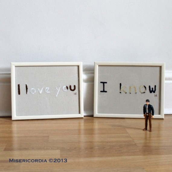 I love you - I know hand embroidery - Misericordia 2013