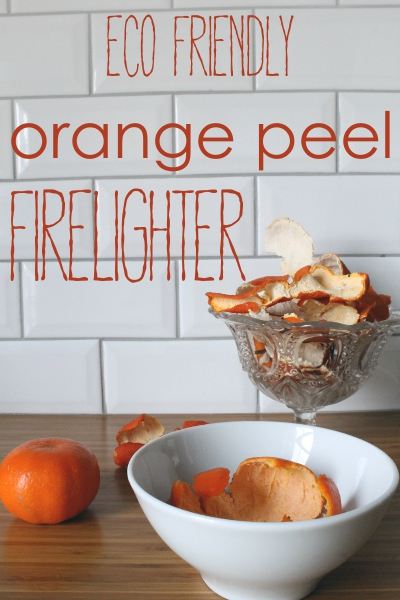 Orange peel firelighters - Misericordia 2014