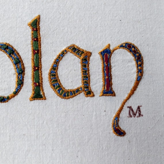 Nolan - hand embroidery by Misericordia 2014
