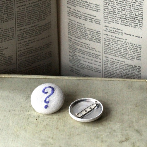 Hand embroidered punctuation badge - Misericordia 2014