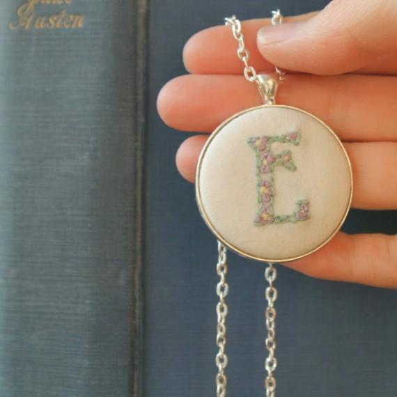 Hand Embroidered E pandant - Misericordia 2014